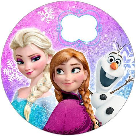etiquetas circulares y toppers de frozen para decorar kit imprimible frozen chivic cumpleanos invitaciones