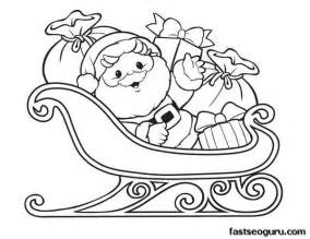 santa claus sleigh coloring pages printable santa claus with sleigh and gifts