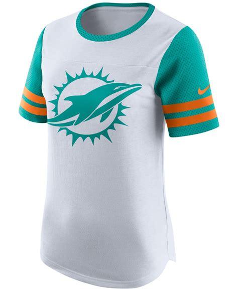 miami dolphins fan gear nike women s miami dolphins gear up fan top t shirt in