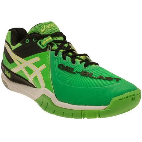 Asics Running Green Shirt Original asics mens gel blast 6 green netball badminton indoor
