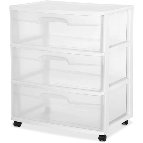 sterilite 5 drawer wide tower black walmart