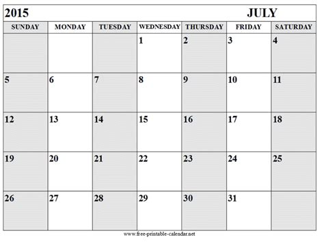 printable free july 2015 calendar free printable calendar 2018 free printable calendar july