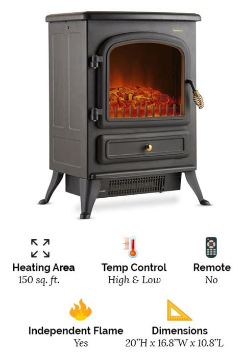 top   freestanding electric fireplace heaters