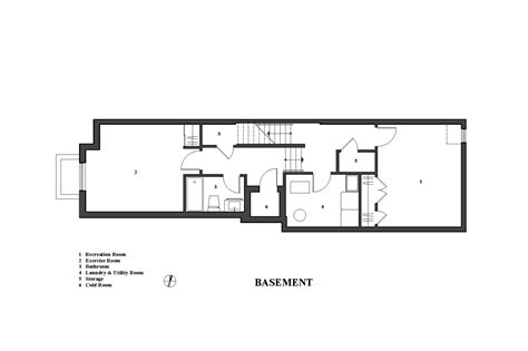 Basement Apartment Floor Plans gallery of the linear house green dot architects 10