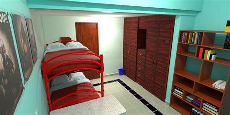 habitacion 3d sketchup render de habitacion