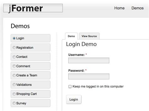 www compensar com con formularios crea formularios html con jformer framework php