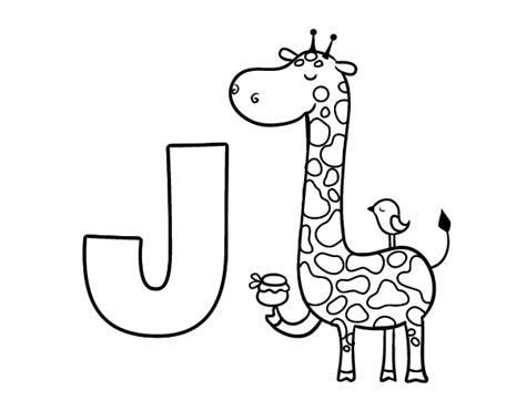 imagenes que empiecen con la letra j dibujo de j de jirafa para colorear dibujos net