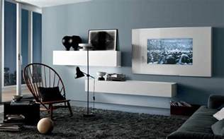 wohnzimmer in grau streichen wand streichen in farbpalette der wandfarbe blau frisch
