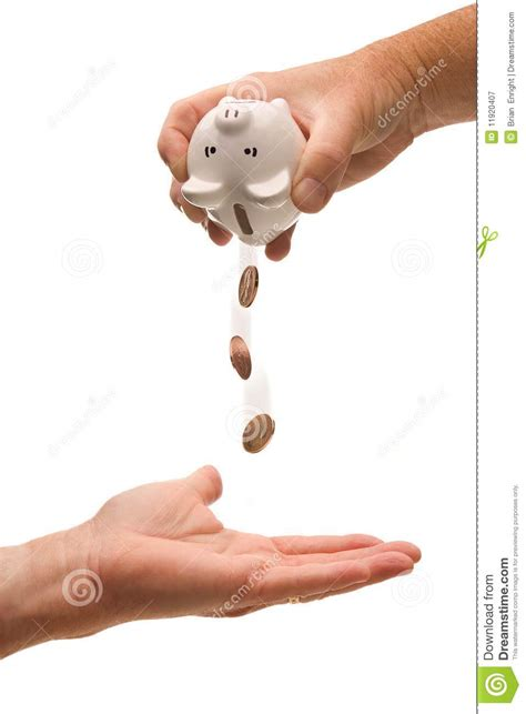 Empty Your Bank Account With Just Your Thumbs by Empty The Piggy Bank Royalty Free Stock Photography
