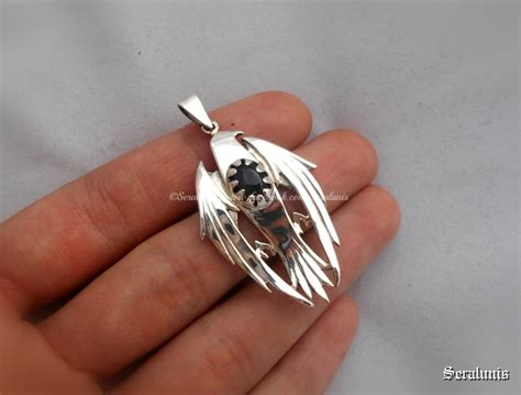 Handmade Sterling Silver - hawkeye handmade sterling silver pendant by seralune on