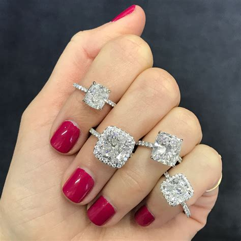 cushion cut engagement rings with no halo cushion cut halo engagement ring ring concierge