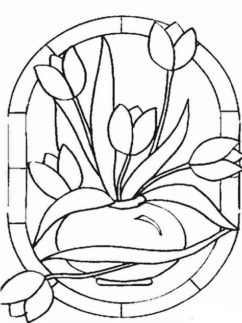 coloring page tulip flower tulip coloring pages download and print tulip coloring pages