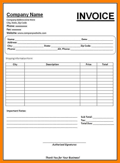 Copy Of An Invoice Template copy of an invoice template best resumes
