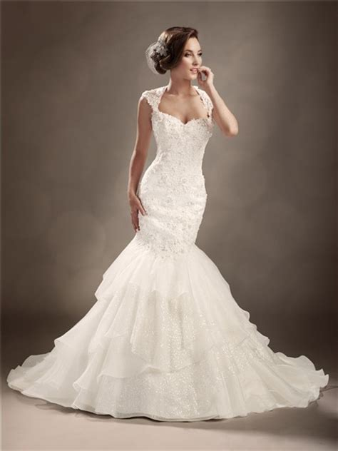 trumpet mermaid cap sleeve backless wedding dress