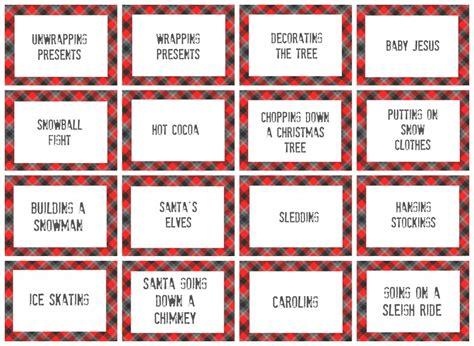 free printable christmas charades games christmas charades game and free printable roundup a