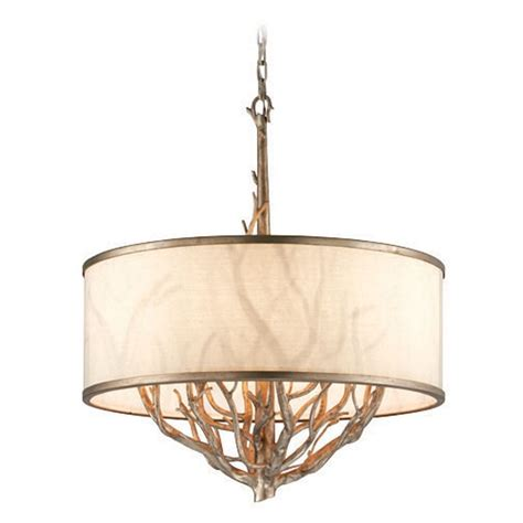 Troy Lighting Whitman Vienna Bronze Pendant Light With Pendant Light Drum Shade