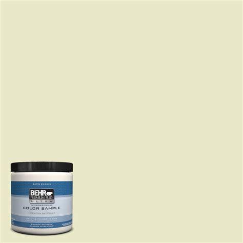 behr premium plus ultra 8 oz ppu9 16 pale celery interior exterior satin enamel paint sle