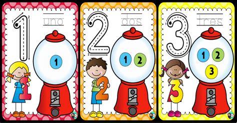 imagenes educativas para preescolar tarjetas para trabajar los n 250 meros y repasar trazo conteo