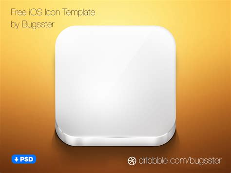 free ios icon template psd by taras shypka dribbble