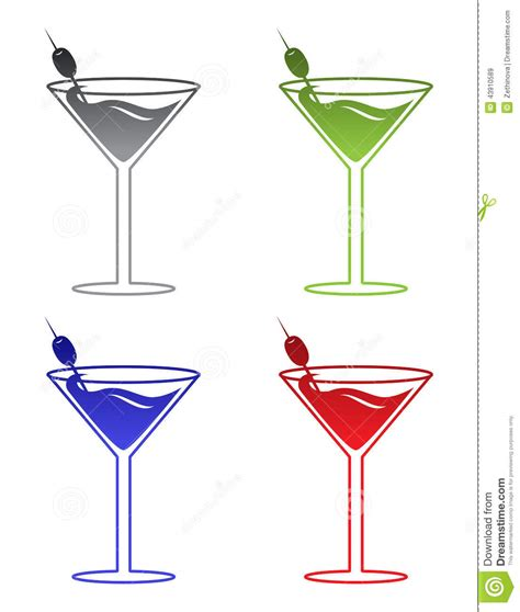 martini illustration martini stock illustration image 43910589