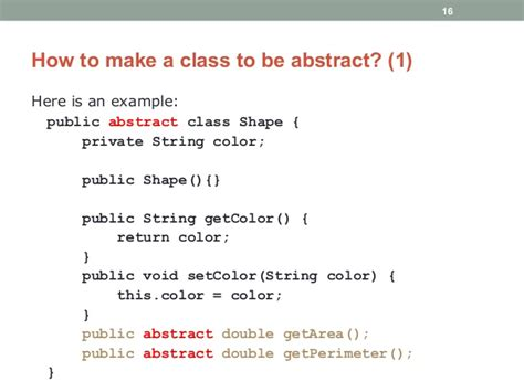 How To Do Abstract Java Programming Introduction To Abstract Class