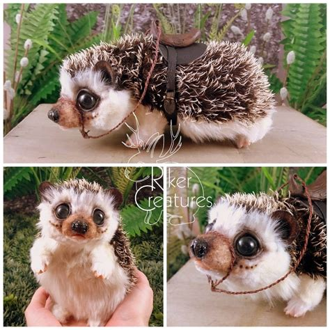 doll creature mount hedgehog poseable creature by