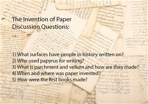 Invention Of Paper - the invention of paper slideshow science skills