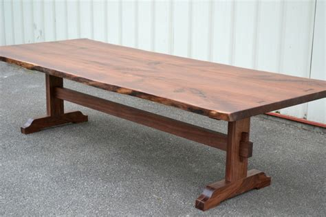 10 Foot Desk by 10 Foot Live Edge Walnut Dining Table