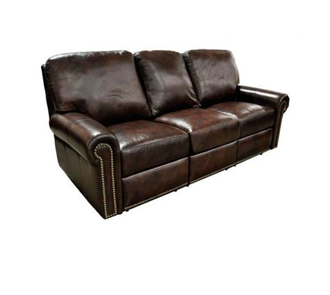 omnia fairfield leather reclining sofa set