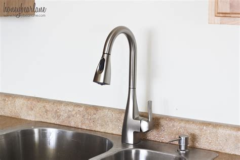 how to change a kitchen sink faucet how to replace a kitchen faucet honeybear lane
