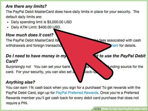 how to make debit cards how to use the paypal debit card 8 steps with pictures