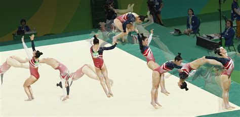 gymnastics back handspring layout stepout how the u s crushed the competition in the women s