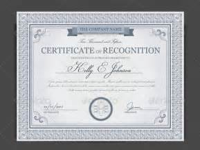 sample certificate of recognition template 14 free