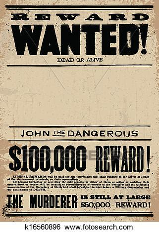 wanted layout artist clip art of vector western wanted reward poster template