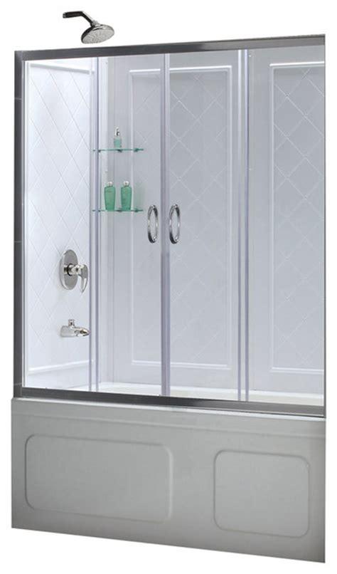 Shower Door Kits Dreamline Visions 56 60 Quot Frameless Sliding Tub Door And