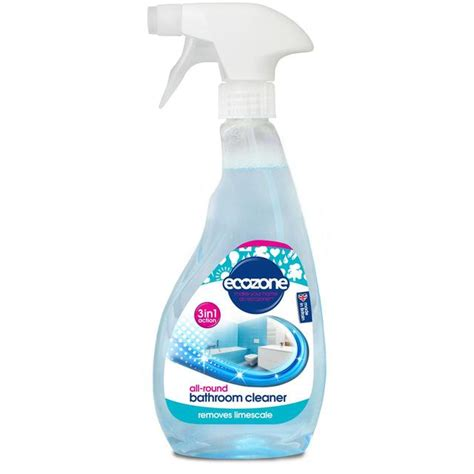 Shower Limescale Remover by Ecozone 3 In 1 Bathroom Cleaner Limescale Remover 500ml