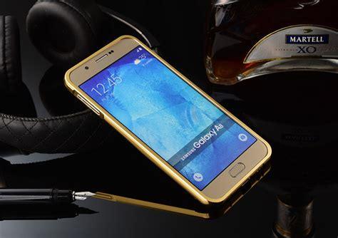Samsung Galaxy A8 Bumper Mirror Aluminium With Back Pc metal mirror back bumper cover for samsung galaxy j7