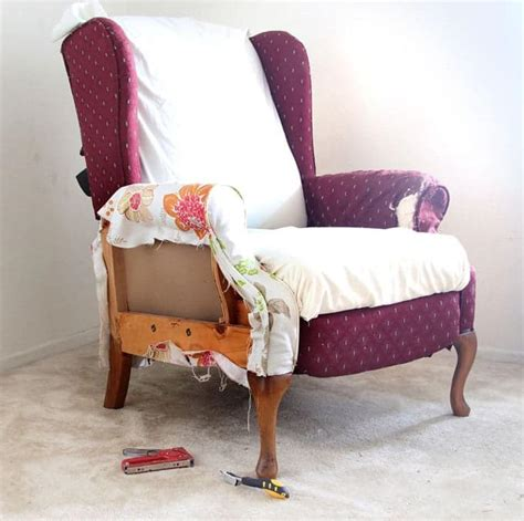 wingback chair upholstery tutorial fabric chair makeover before after page 2 of 2 a piece