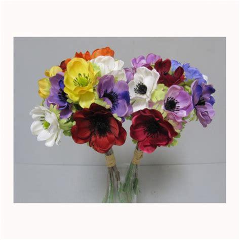 fiori finti firenze anemone x12 an9 00 80 032133 piante e fiori