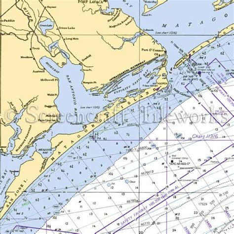 Floor And Decor San Antonio Texas texas san antonio bay seadrift nautical chart decor