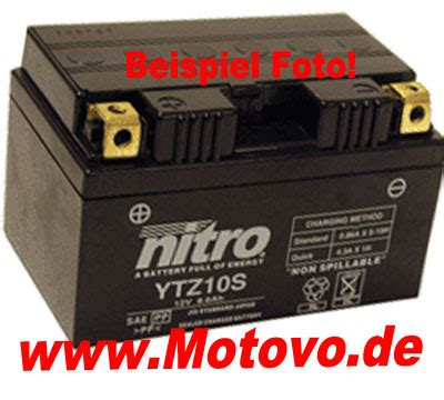 Motorrad A2 Ausland by Nitro Batterie Motorradzubeh 246 R Motoversand Gusenburg