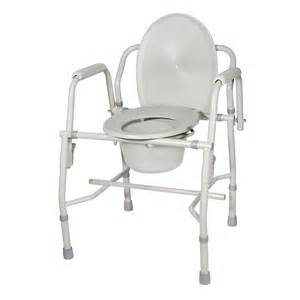 heavy duty steel drop arm bedside commode padded arms