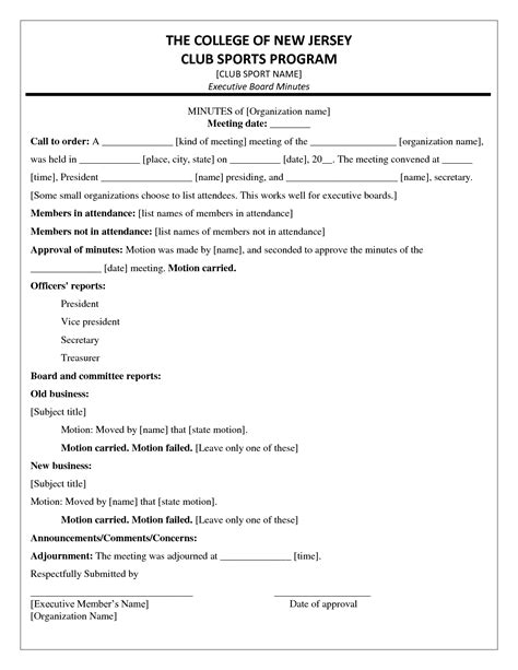 meeting minutes notes template env 1198748 resume cloud