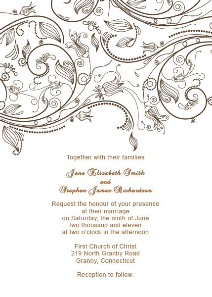 retro free printable wedding invitation templates vintage flourishes wedding invitation template wedding