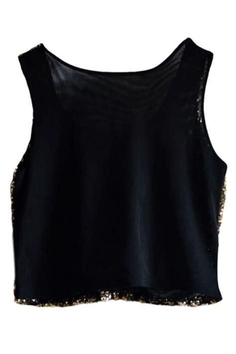 Blouse Atasan Sabarina Import Silvery Stripe Size M 304101 gold womens fancy stripe sequins tank crop top pink