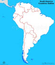 south america countries outline map countries outline map