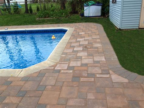 paver pool deck pavers pool deck and steps philadelphia pa recent