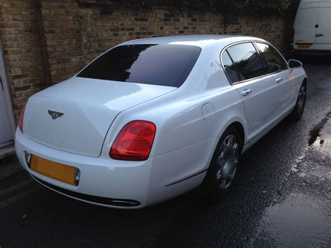 bentley wrapped bentley flying spur wrapped white by wrapping cars london