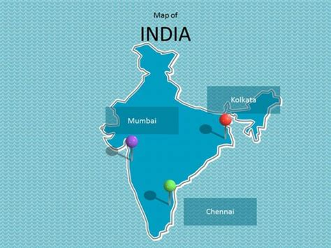 india map ppt template india map template