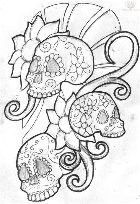 sugar skull tattoo design mexican sugar skull design